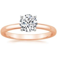 14K Rose Gold 2mm Comfort Fit Ring from Brilliant Earth