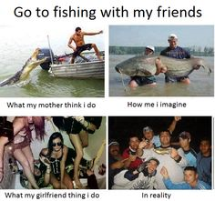 Funny Fishing Quotes – Go fishing with my friends.. — Didnt Know About