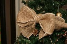 burlap garland - Google Search