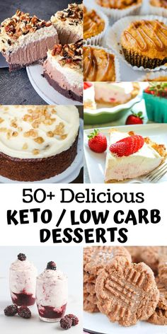 50+ Delicious Low Carb and Keto Dessert Recipes!