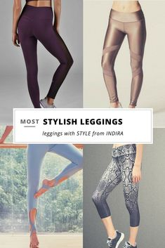 Stylish leggings are the new pants. Whether for the gym or a chic daytime look, these leggings can do it ALL. Check out all our leggings at Indira Active.