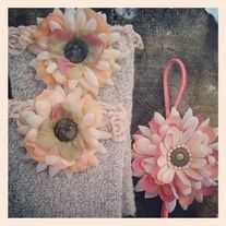 Products · Peach boot cuff and headband set · Temptations Creations's Store Admin
