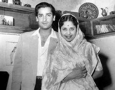 Shammi Kapoor with wife Geeta Bali Geeta Bali, Shammi Kapoor, Child Actresses, Indian Movies, Bollywood Stars, Mumbai, Pakistan, Movie Stars, Real Life