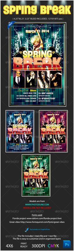 Realistic Graphic DOWNLOAD (.ai, .psd) :: http://jquery-css.de/pinterest-itmid-1004219031i.html ... Spring Break Flyer Template ...  break, club, concert, exclusive, festival, flyer, holiday, hot, hotel, night, resort, sea, sexy, splash, spring, summer, template  ... Realistic Photo Graphic Print Obejct Business Web Elements Illustration Design Templates ... DOWNLOAD :: http://jquery-css.de/pinterest-itmid-1004219031i.html