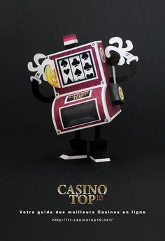 Slot Machine Paper Toy - by Tougui - via Paper Toys, Paper Gifts, Slot Machine, Arcade, Play Casino Games, Online Casino Slots, Creative Kids Snacks, Healthy Filling Snacks, New Year Gifts