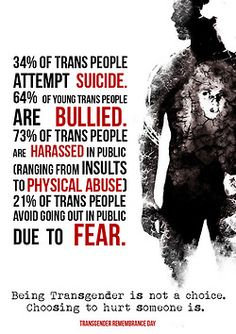Because of statistics like this, trans people sometimes have a guard up as a form of protection. If you know someone going through a transition and this happens they may not know where you stand.  At a time you feel it appropriate let them know you are grateful for their friendship and ask their preference of something fun or relaxing and let them know you are an ALLY and your relationship won't change. This could mean so much more than you know at a time when they need love and acceptance.