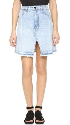 Denim x  Alexander Wang Pleated Miniskirt