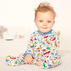 Bright Dinosaur Baby Sleepsuit   JoJo Maman Bebe