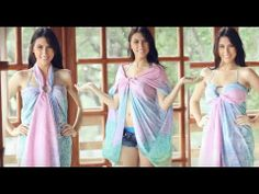 ▶ Different Ways To Wear Your Scarf Tutorial - Summer Scarf Styles - YouTube
