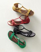 Ciao Bella Felice Perforated T-Strap Sandal