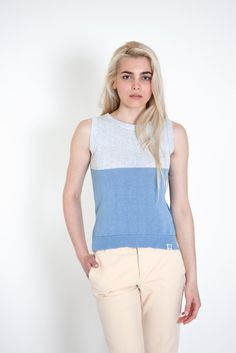 This #colour-block #cotton top is made from 100% #sustainable cotton threads and lots of #love. It is perfect for a #casual #office outfit or a #comfortable #street-style look. #minimal design