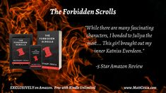 "Another stellar review for ""The Forbidden Scrolls."" 15 ratings, 4.8/5 on Amazon. Maybe you should give it a shot?"