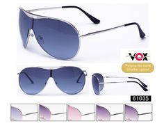 Description: VOX OPTICS Sunglasses  Frame: Assorted  Lens: Assorted Poly Carbonate