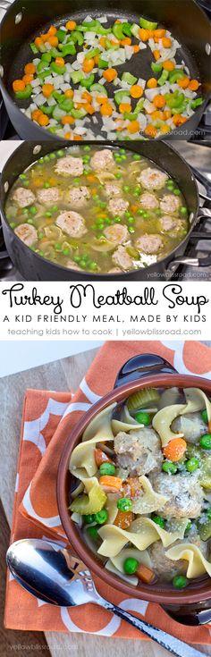 Turkey Meatball Soup - A Perfect, Kid Friendly, Fall Meal