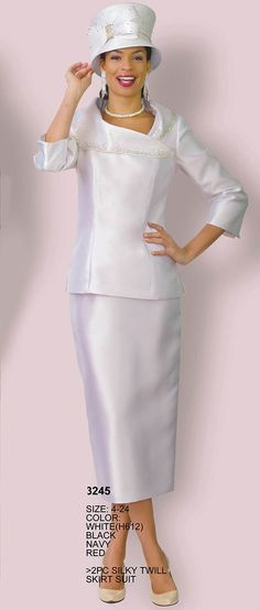 Lily and Taylor 3245 is a women's two piece silky twill church suit. Church Dresses For Women, Women Church Suits, Suits For Women, Jacket Dress, Peplum Dress, Size 14 Fashion, Sunday Clothes, Stretch Denim Fabric, Mob Dresses