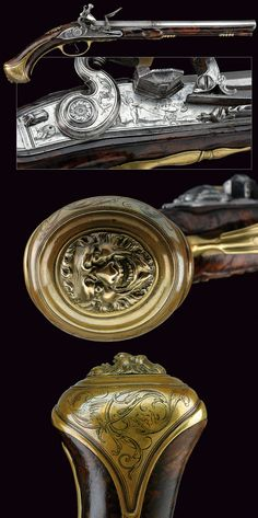An important flintlock pistol by Lorenzoni, provenance: Florence dating: first quarter of the 18th Century .