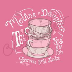Mother Daughter Tea | Mother Daughter Tee Shirt Inspiration | Gamma Phi Beta | Gamma Phi | G Phi | Parent's Weekend Tee Shirt Ideas | South by Sea | Greek Tee Shirts | Greek Tank Tops | Custom Apparel Design | Custom Greek Apparel | Sorority Tee Shirts | Sorority Tanks | Sorority Shirt Designs