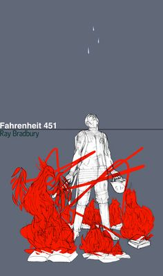 Fahrenheit 451 by DinaBlokhina on DeviantArt Literary Costumes, Great Sci Fi Movies, Fahrenheit 451, Film Books, Sci Fi Fantasy, Classic Films, Online Art Gallery, Cover Design, Book Worms
