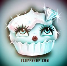 Diamond Sugar Dust Cupcake by  Claudette Barjoud for Fluff http://fluffshop.com/