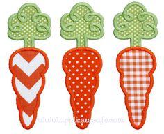Loopy Carrot Trio Applique Design