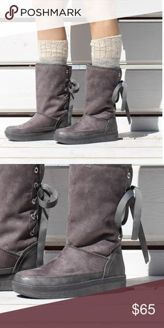 Long winter boots Long winter boots with lace in the back Shoes Winter & Rain Boots