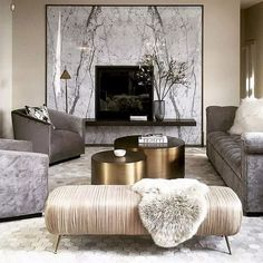 Paying attention to the details of the design is essential in creating a luxury living room interior. Glam Living Room, Elegant Living Room, Formal Living Rooms, Small Living Rooms, Living Room Interior, Living Room Designs, Living Room Decor, Cozy Living, Dining Room