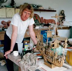 Grayson Perry a fascinating person and artist.  Born 1960.  Chelmsford, England.  Known for Ceramic vases and cross dressing.