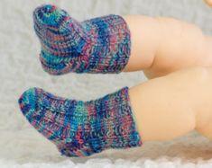 FREE KNITTING PATTERN, Baby Socks Sample Pattern, Free Baby Knitting Pattern, Newborn Socks Knitting Pattern, Pdf, Instant Download