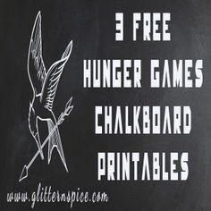 Hunger Games Free Chalkboard Printables