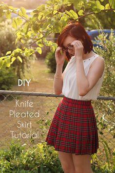 DIY Knife-Pleated Schoolgirl Skirt Tutorial
