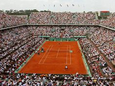 Roland Garros is the main tennis center in paris, it holds the french open annually. it is situated in Bois de Boulogne, in the 'affluent west side of paris' French Open, Rio, Sports Football, Open Image, Sports Awards, Tennis World, Tennis Tournaments, Next Holiday, Tips