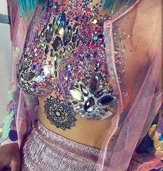 Boob Glitter Body Makeup Coachella Beauty