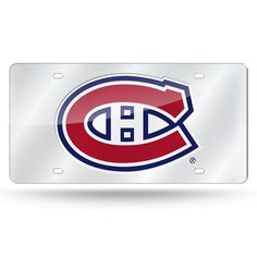 NHL Montreal Canadiens Laser License Plate Tag - Silver