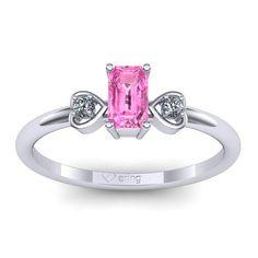 Inel logodna L68ASR cu safir roz si diamante