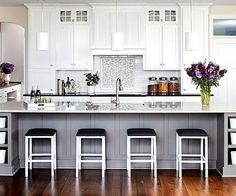 Trend Alert: Two-Toned Kitchen Cabinets    #Kitchen #InteriorDesign #TrendAlert