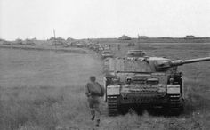 "Column of Leibstandart Division led by Pzkw IV ausf.G ""064"""