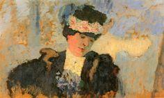 zijperspace: She Wore Flowers on Her Hat, Day IV:'Madame Hessel met Bloemenhoes' - Éduard Vuilard.