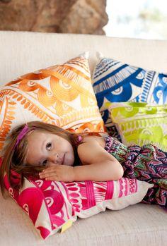 trina turk embroidiered pillows