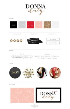 Donna Daily by Donna Kim - Saffron Avenue Site Web Design, Blog Design, Brand Identity Design, Branding Design, Branding Ideas, Identity Branding, Portfolio Web, Logos Retro, Marca Personal