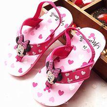 Nuevas Muchachas de la Llegada de Playa Zapatos de la Historieta Encantadora Girls Elastic Band Diseño Flip Flop Zapatos Sandalias de La Princesa Sandalias de Las Muchachas Sandalias(China (Mainland))