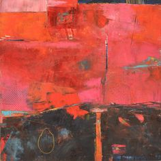 Big Red, Nicola Morgan (2012) Oil, cold wax on panel, 24in × 24in Vancouver artist Nicola Morgan's approach to painting is with spontaneous energy, working through themes of the narrative landscape - an expressionistic landscape made from layers of a mixture of cold wax and oil paint.