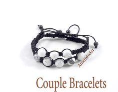 Couples Bracelet His and Her Bracelet Boyfriend от AmetistoArt