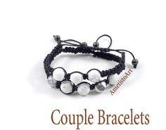 Couples Bracelet His and Her Bracelet Boyfriend от AmetistoArt