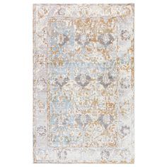 Jaipur's Ceres Chyenne rug offers a fresh take on classic style. On a background of beautiful tourmaline blue, swirling leaves and flowers demand focus in faded tones of antique white, ash gray, and burnt orange. The easy-care fabrication makes this floor covering the perfect pick for well-used foyers and living rooms. Sizes: 2ft W x 3ft L, 5ft W x 8ft L, 7ft-6in W x 10ft L, 9ft W x 12ft L; Material: 100% polyester; Care Instructions: professional cleaning recommended; Rug pad recommended...