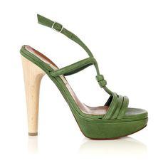 Lanvin Platform t-bar sandal ($435) found on Polyvore