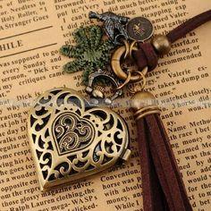 <3  Antique heart pendant