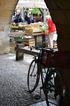 Monpazier market, Dordogne, south-west France