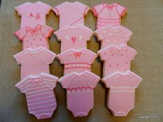 Baby Onesie Cookies for Baby Showers or New Mother gift