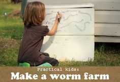 Make a simple Worm Farm from recycled materials Teach kids about the superpowers of worms!