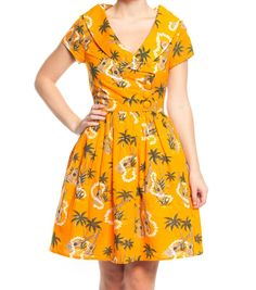 Summer favourite. The print is amazing and the colour brightens any day! The petticoat lining is a dream! The Luáu Dress